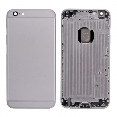 For iPhone 6 Plus Back Cover Rear Housing With Camera Lens Power Silence & Volume Buttons And Sim Card Tray - Grey