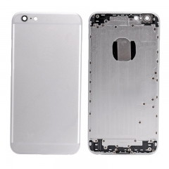 For iPhone 6 Plus Back Cover Rear Housing With Camera Lens Power Silence & Volume Buttons And Sim Card Tray - Silve