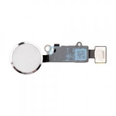 For iPhone 7& 7 Plus Home Key With Flex Cable Connector And Fingerprint Scanner Sensor - Silver