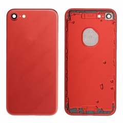 For iPhone 7 Back Housing Battery Cover Rear Frame With Side Buttons And SIM Tray Red