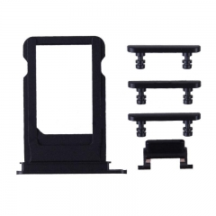 For iPhone 7 4.7 inches 5 in 1 Sim Card Tray With Side Buttons - Black