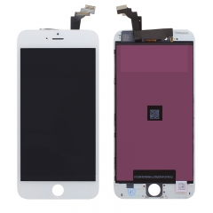 "For iPhone 6 Plus 5.5"" LCD Screen With Digitizer and Frame Assembly - White High Quality"