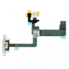For iPhone 6 Plus Power Control Flex Cable With Metal Bracket