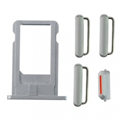 For iPhone 6 Plus Side Buttons & SIM Card Tray - Grey