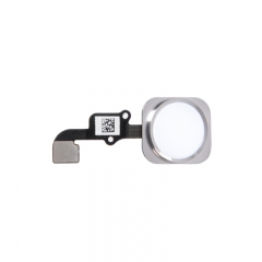 For iPhone 6 Plus Home Button With Flex Cable Assembly - White