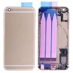 For iPhone 6S Plus Back Housing Battery Cover Rear Frame With Small Parts Full Assembly - Gold