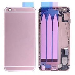 For iPhone 6S Plus Back Housing Battery Cover Rear Frame With Small Parts Full Assembly -Rose Gold