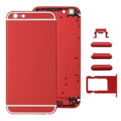 For iPhone 6S Back Cover Battery Housing With Side Buttons and SIM Tray - Red