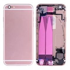 For iPhone 6S Back Housing Battery Cover Rear Frame With Small Parts Full Assembly - Rose