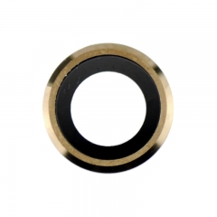 For iPhone 6 / 6S Rear Camera Holder With Lens - Gold 10Pcs/Lot