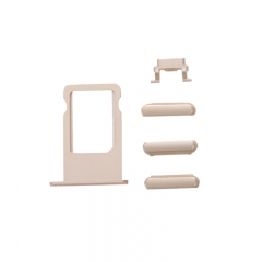 For iPhone 6S Side Buttons With SIM Card Tray Set - Gold
