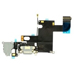 For iPhone 6 Headphone & Dock Charging Flex Cable - Light Grey