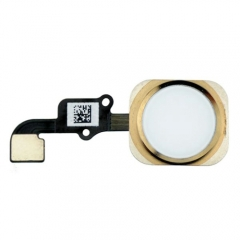 For iPhone 6 Home Button With Flex Cable Assembly - Gold