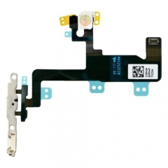 For iPhone 6 Power Button Flex Cable With Metal Bracket