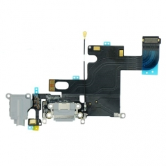 For iPhone 6 Headphone & Dock Charging Flex Cable - Dark Grey