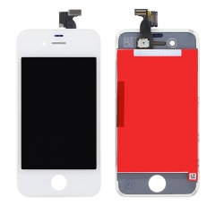 For iPhone 4 LCD Screen With Digitizer and Frame Assembly - White AAA