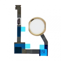 For iPad Air 2 Home Button With Flex Cable Assembly - Gold