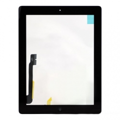 For iPad 4 Touch Screen Digitizer With Home Button Flex And Adhesive Assembly Original Black