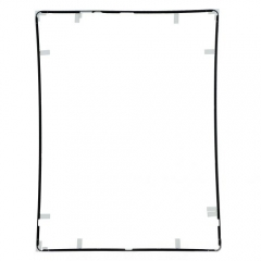 For iPad 4 Touch Screen Supporting Frame With Adhesive - Black