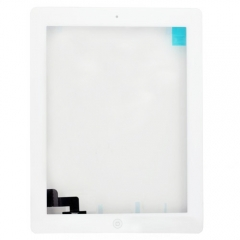 For iPad 2 Touch Panel Digitizer With Home Button And Adhesive Assembly Original - White