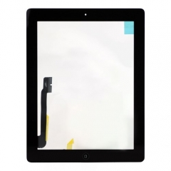 For The New iPad (iPad 3) Touch Panel Digitizer With Home Button And Adhesive Assembly Original - Black