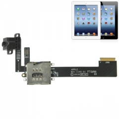 For iPad 3 Dock Connector With Headhphone Jack Flex Cable