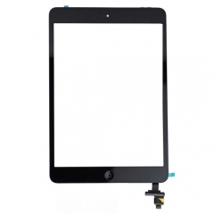 For iPad Mini 1/2 Touch Screen Digitizer With Home Button+IC+Adhesive Assembly Original - Black