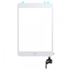 For iPad Mini 3 Touch Screen Digitizer With Home Button+IC+Adhesive Assembly Original - White