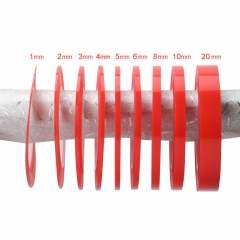 Red Tape Heat Resistant Double Sided Adhesive Transparent Clear Tape Sticker