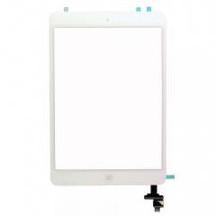 For iPad Mini 1/2 Touch Screen Digitizer With Home Button+IC+Adhesive Assembly Original - White