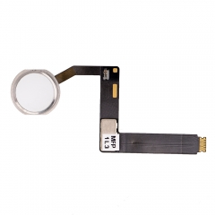 "For iPad Pro 9.7"" Home Button Assembly with Flex Cable Ribbon - Silver"