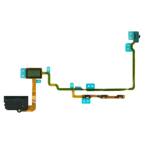 For iPod Nano 7th Gen Headphone Audio Jack Flex Cable - Black