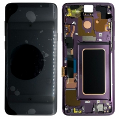 For Samsung Galaxy S9 Plus G965F LCD Screen Display Assembly With Frame - Purple