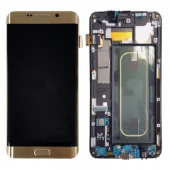 For Samsung Galaxy S6 Edge Plus G928 G928F LCD Screen Display With Frame Assembly - Gold