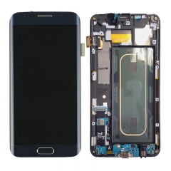 For Samsung Galaxy S6 Edge Plus G928 G928F LCD Screen Display With Frame Assembly - Blue