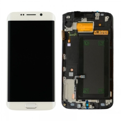 For Samsung Galaxy S6 Edge G925 G925F LCD Screen Display With Frame Assembly - White