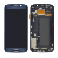 For Samsung Galaxy S6 Edge G925 G925F LCD Screen Display With Frame Assembly - Blue