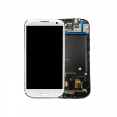 For Samsung Galaxy S3 i9305 LCD Screen Display Assembly With Frame - White