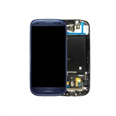 For Samsung Galaxy S3 i9305 LCD Screen Display Assembly With Frame - Blue