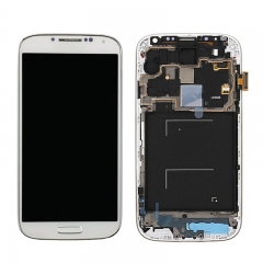 For Samsung Galaxy S4 i9506 LCD Screen Display Assembly With Frame - White