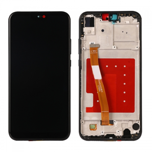 For Huawei P20 Lite / Nova 3E LCD Display Touch Screen Digitizer Assembly With Frame - Black