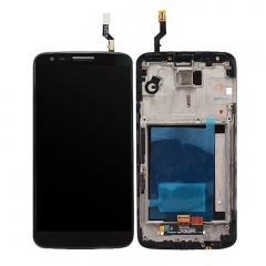 For LG G2 D802 LCD Screen Display Digitizer Assembly With Frame - Black