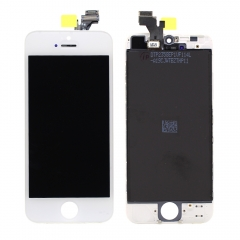 For iPhone 5 LCD Screen With Digitizer and Frame Assembly - White Original