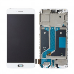 For OnePlus 5 LCD Screen Display Touch Digitizer Assembly With Frame - White