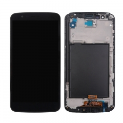 For LG Stylo 3 LS777 L83BL M430 LCD Display Screen Touch Digitizer Assembly With Frame - Black