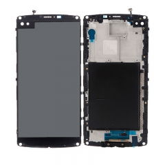 For LG V10 H900 VS990 H901 LCD Display Touch Screen Digitizer Assembly With Frame - Black