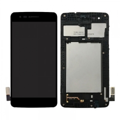 For LG K8 2017 M210 MS210 LCD Display Screen Touch Digitizer Assembly With Frame - Black