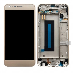 For LG X Cam K580 K580F LCD Display Screen Touch Digitizer Assembly With Frame Gold