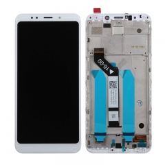 For Xiaomi Redmi 5 Plus LCD Display Touch Screen Digitizer Assembly With Frame White