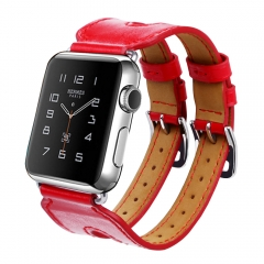 For Apple Watch 38mm 42mm Leather Band